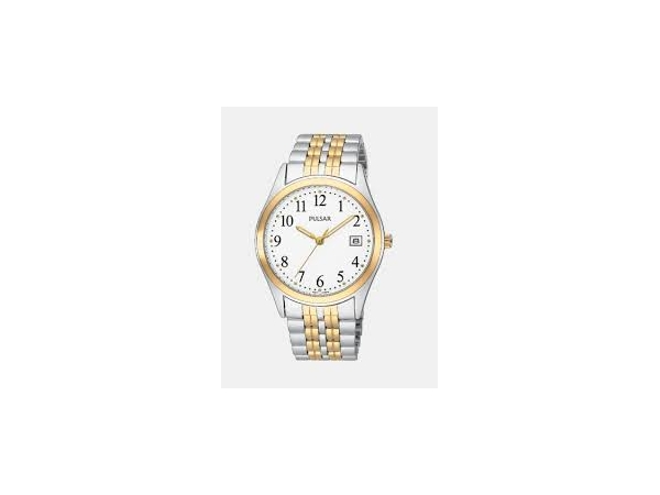 Watch - Mens 2 Tone White Face Pulsar