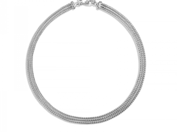Pendant/Necklace - Classic Chain Silver Three Row Neck