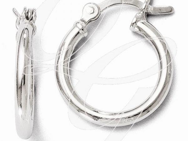 Sterling Silver Earrings - SS Hinged Hoop Earring