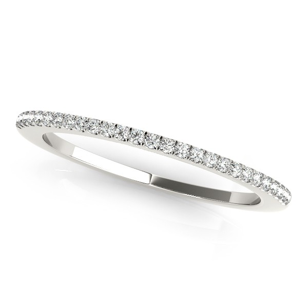 Ladies Wedding Band - 14K WG 1/10 cttw SI1-SI2 G/H