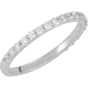 Ladies Wedding Band - 14K WG Band with 3/8 ctw SI2-SI3 G/H      Mounting 121877 3C 122126
