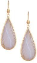 18K Clad Blue Lace Agate Earrings - 18K Clad Blue Lace Agate Earrings