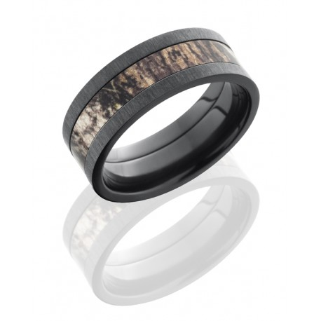 8mm Zirconium Band with Camouflage Center - 8mm Zirconium Band with Camo