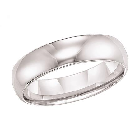 6mm Plain Tungsten Domed Band - 6mm Tungsten Domed Band