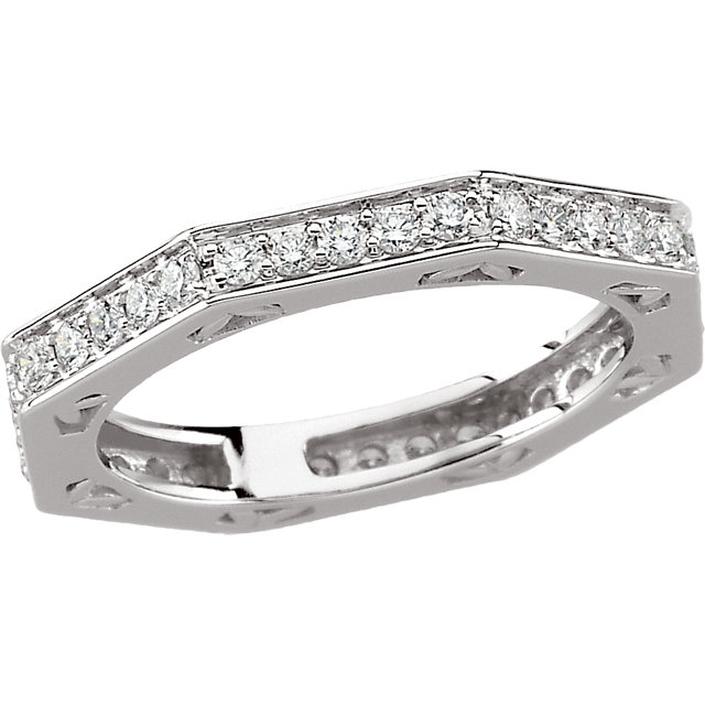 Stackable Rings - 14K WG Oct Eternity Band 3/4 ctw SI2-SI3 G/H      Mounting only 121580 No 3C number