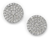 DIAMOND EARRINGS - 14 KARAT WHITE GOLD DIAMOND POST EARRINGS SET WITH .83 CARAT TOTAL WEIGHT DIAMONDS BY DILAMANI DESIGN
