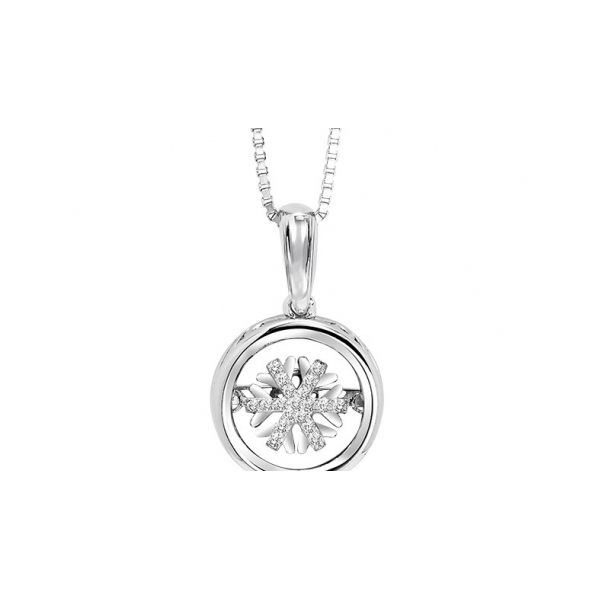 DIAMOND PENDANTS - GOLD AND DIAMOND SNOWFLAKE PENDANT