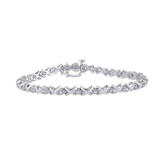DIAMOND BRACELETS - 14 KARAT WHITE GOLD DIAMOND