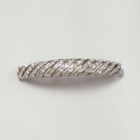 DIAMOND BRACELETS - 14 KARAT WHITE GOLD DIAMOND SLEEVE. LOVE LIFE BY RON ROSEN