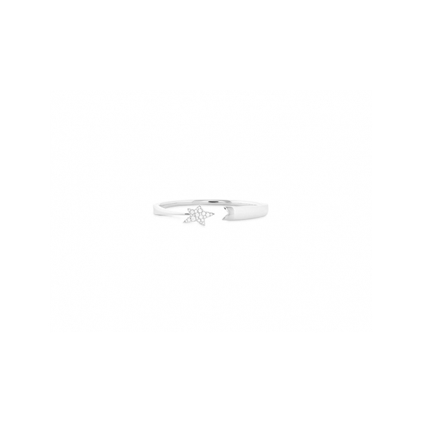 DIAMOND BRACELETS - HEARTS ON FIRE 18 KARAT WHITE GOLD TRUE FASHION FORWARD DESIGN, THE ILLA COSMIC BANGLE IS THE PERFECT PIECE TO ADD A BIT OF SPARKLE TO ANY OUTFIT, WITH A STAND OUT DIAMOND STAR MOTIF .34-.42 CARAT TOTAL WEIGHT