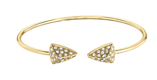 DIAMOND BRACELETS - 14 KARAT YELLOW GOLD DIAMOND FLEX CUFF BANGLE SET WITH .75 CARAT TOTAL WEIGHT BY CORDOVA DESIGN