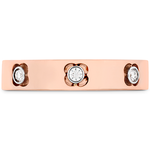 DIAMOND BRACELETS - COPLEY BANGLE 18 KARAT ROSE GOLD SET WITH .26 CARAT TOTAL WEIGHT DIAMONDS BY HEARTS ON FIRE