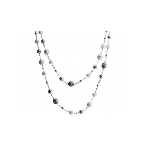 STERLING SILVER/PEARL NECKLACES - 48