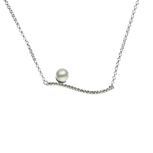 STERLING SILVER/PEARL NECKLACES - 17