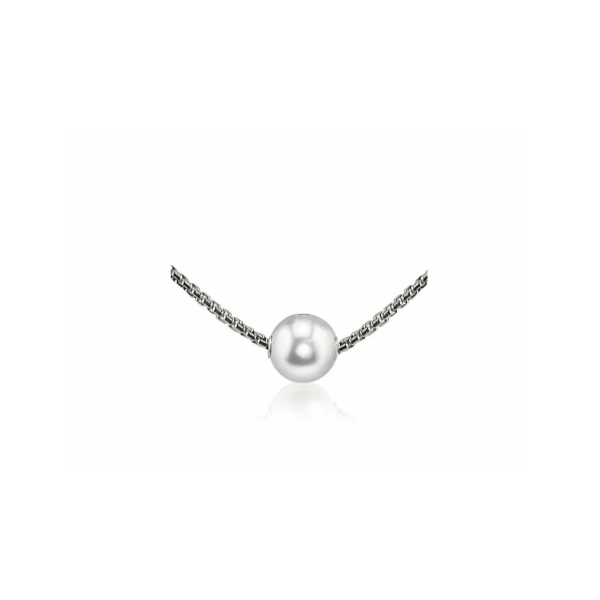 STERLING SILVER/PEARL NECKLACES - 18