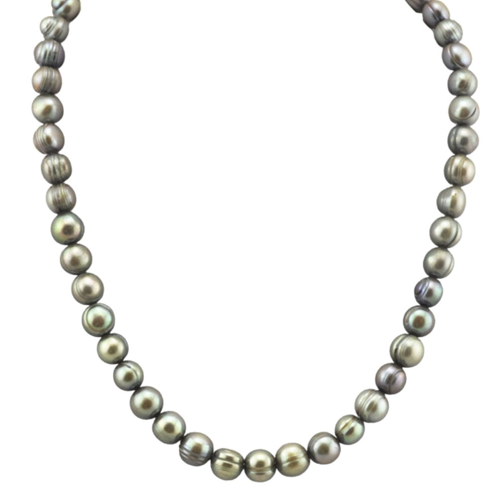 STERLING SILVER/PEARL NECKLACES - 34