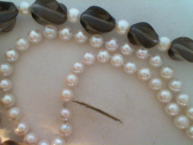 PEARL NECKLACE/GOLD - 24