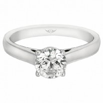 GOLD FASHION RINGS - 14 KARAT WHITE GOLD MARTIN FLYER OUR DESTINY OUR DREAMS SOLITAIRE ENGAGEMENT RING