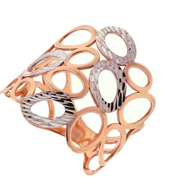 GOLD FASHION RINGS - 14 KARAT ROSE GOLD OPEN CIRCLES