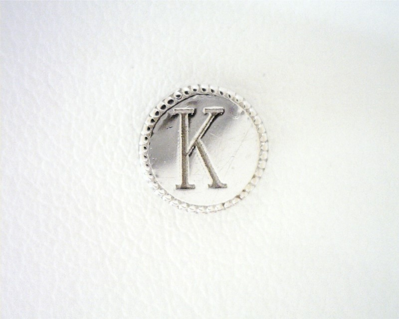 KARAT GOLD PENDANTS/CHARMS - 14 KARAT WHITE GOLD INITIAL