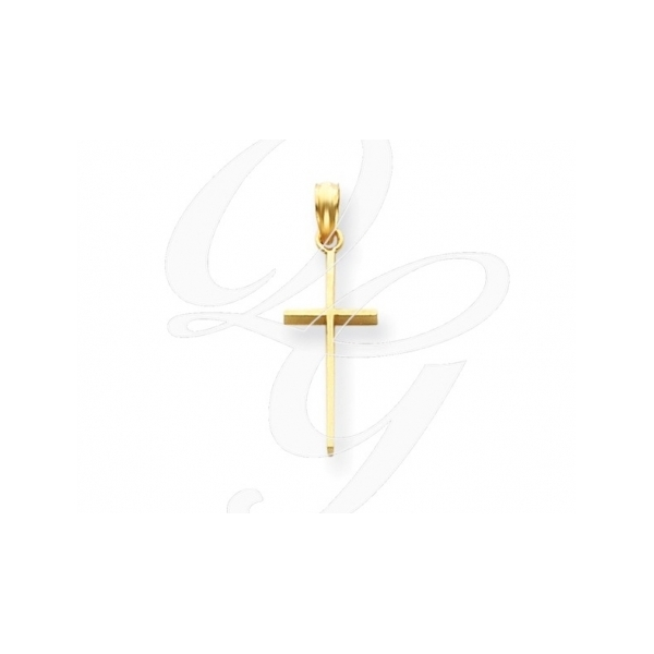 KARAT GOLD PENDANTS/CHARMS - 14 KARAT YELLOW GOLD POLISHED CROSS PENDANT