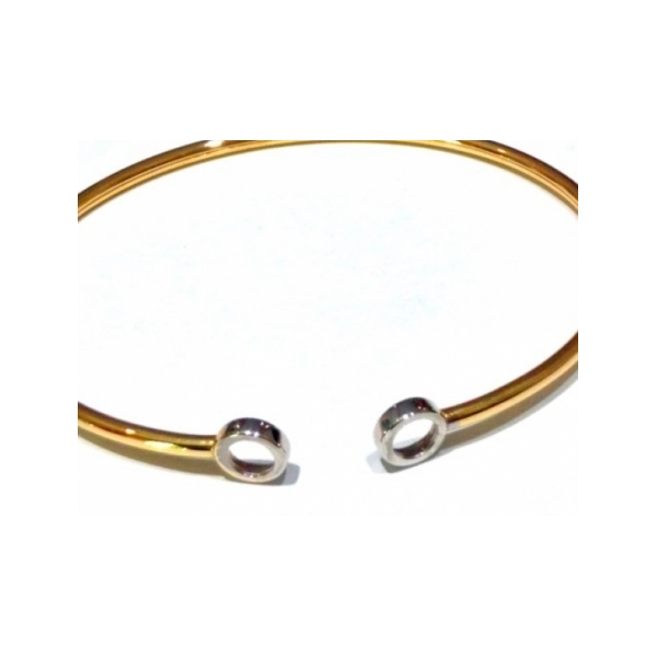 KARAT GOLD BRACELETS - 14 KARAT YELLOW GOLD FLEX BRACELET FOR 2 ENCORE ELEMENTS BY CORDOVA