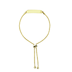 KARAT GOLD BRACELETS - 14 KARAT YELLOW GOLD ELONGATED HEXAGON BRACELET