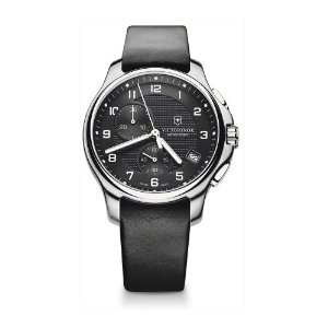 SWISS ARMY WATCHES - SWISS ARMY OFFICERS CHRONO-BLACK LEATHER STRAP-BLACK DIAL-DATE-SERIAL#120513668 This chronograph swiss army watch unites tradition and modernity with its understated elegance and refinement.