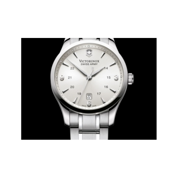 SWISS ARMY WATCHES - SWISS ARMY ALLIANCE LARGE SILVER DIAL- STAINLESS STEEL BRACELET