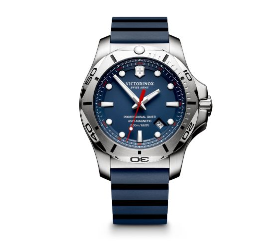 SWISS ARMY WATCHES - SWISS ARMY INOX SERIES- PRO DIVER- BLUE DIAL- BLUE RUBBER STRAP- DATE