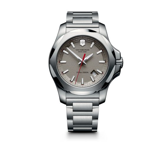 SWISS ARMY WATCHES - SWISS ARMY INOX SERIES- GRAY DIAL- STAINLESS STEEL BRACELET- DATE