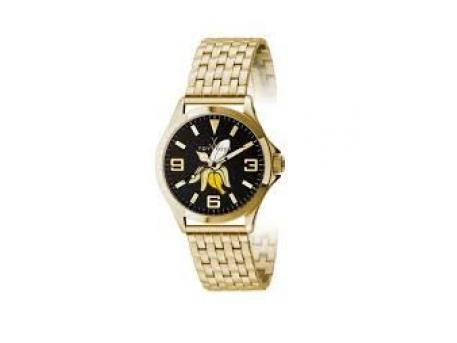 MISCELLANOUS WATCHES - TOY WATCH- CRUISE GRAFFITI- BLACK DIAL WITH BANANA- 39MM- YELLOW GOLD STEEL CASE- YELLOW GOLD STEEL PANTHER BRACELET