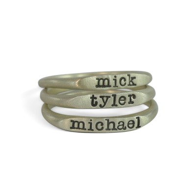 STERLING SILVER RINGS - STERLING SILVER PERSONALIZED RING