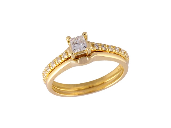 14KT Gold Two-Piece Wedding Set - SET 0.30 PRIN 0.46 TW