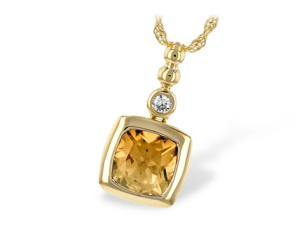 14KT Gold Necklace - NECK 1.22 CITRINE 1.26 TGW