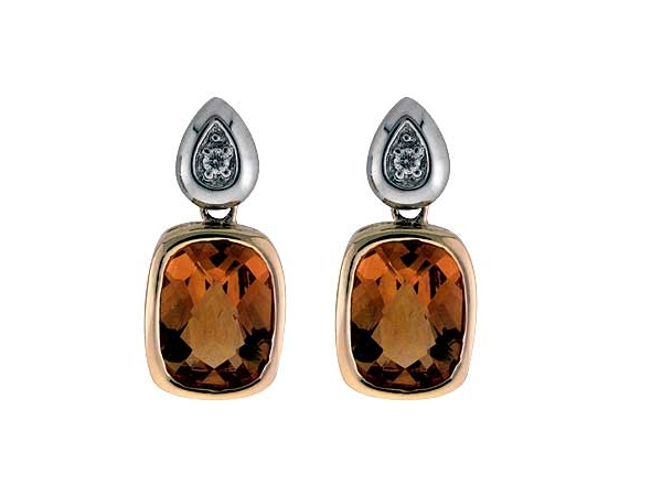 14KT Gold Earrings - EARRINGS 2.05 CITRINE 2.07 TGW