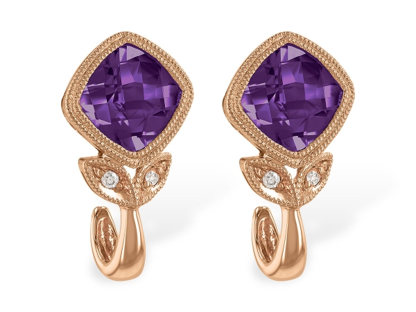 14KT Gold Earrings - EARR 1.71 AMETHYST 1.73 TGW