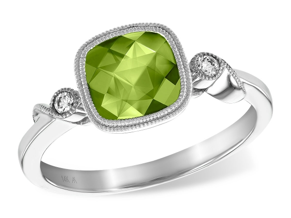 14KT Gold Ladies Diamond Ring - LDS RG 1.54 PERIDOT 1.59 TGW