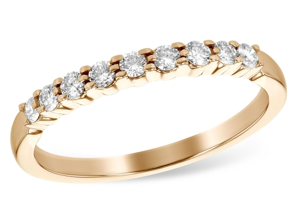 14KT Gold Ladies Wedding Ring - LDS WED RG .25 TW (9 STONES)