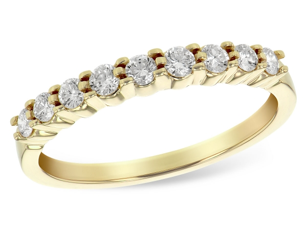 14KT Gold Ladies Wedding Ring - LDS WED RG .33 TW (9 STONES)
