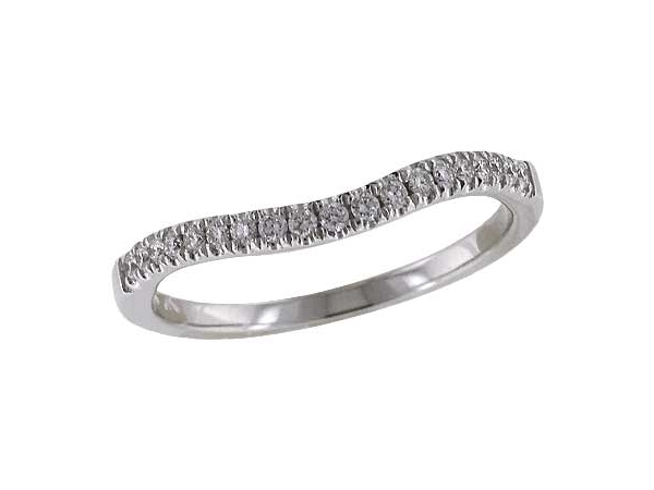 14KT Gold Ladies Wrap/Guard - LDS DIA WED RG .18 TW