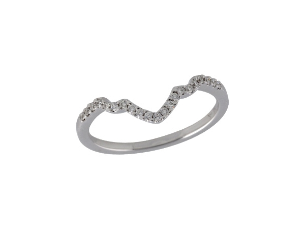 14KT Gold Ladies Diamond Ring - DIA LWR FOR D5111  .11 TW