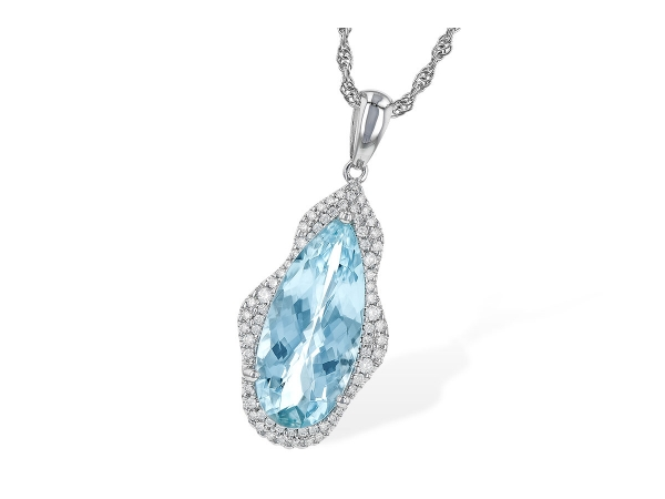 14KT Gold Necklace - NECK 3.97 AQUAMARINE 4.20 TGW