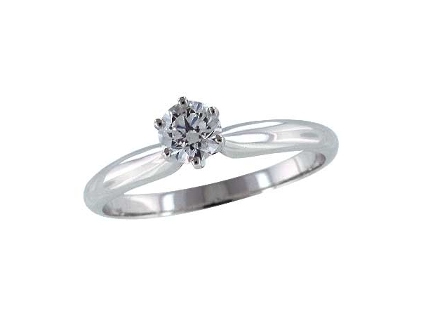 14KT Gold Solitaire Ring by Allison Kaufman