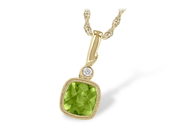 14KT Gold Necklace - NECK .97 PERIDOT .99 TGW