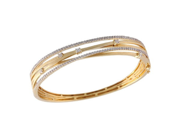 14KT Gold Bracelet - BANGLE BRACELET .91 TW