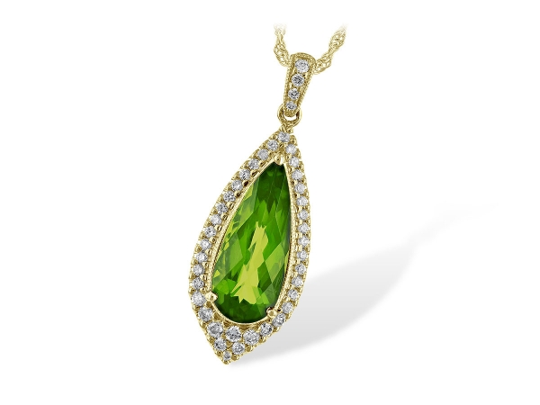 14KT Gold Necklace - NECK 1.90 PERIDOT 2.15 TGW