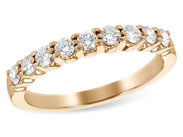 14KT Gold Ladies Wedding Ring - LDS WED RG .50 TW (9 STONES)