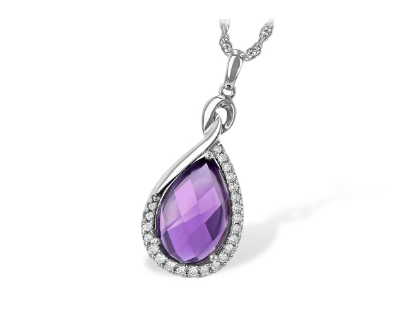 14KT Gold Necklace - NECK 3.91 AMETHYST 4.10 TGW