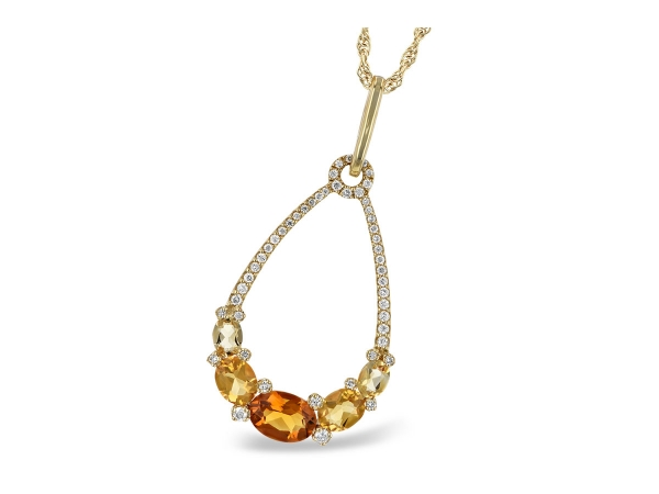 14KT Gold Necklace - NECK 1.29 CITRINE 1.49 TGW